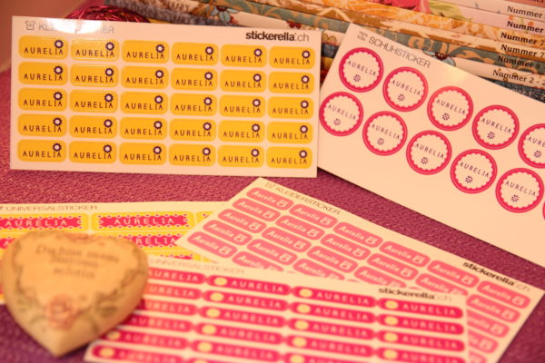 Stickerella – gut beschriftet für den Kindergarten :)